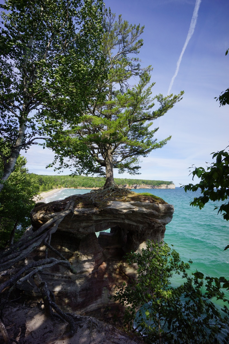 chapel rock at pictured rocks national lakeshore, mi