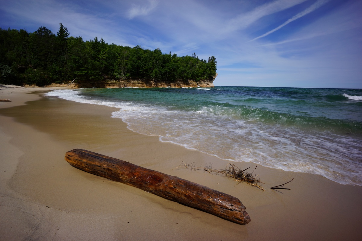 chapel beach at pictured rocks national lakeshore, mi