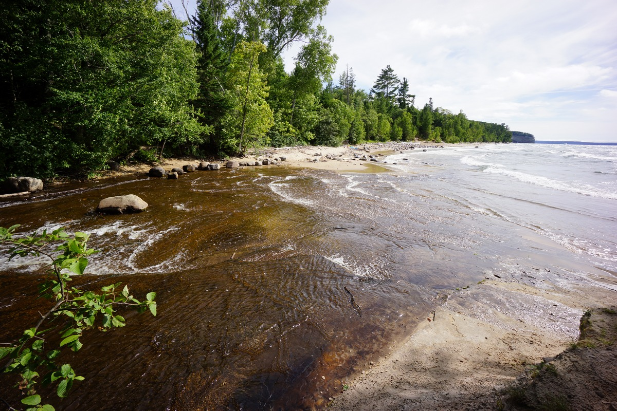 mosquito river meets lake superior