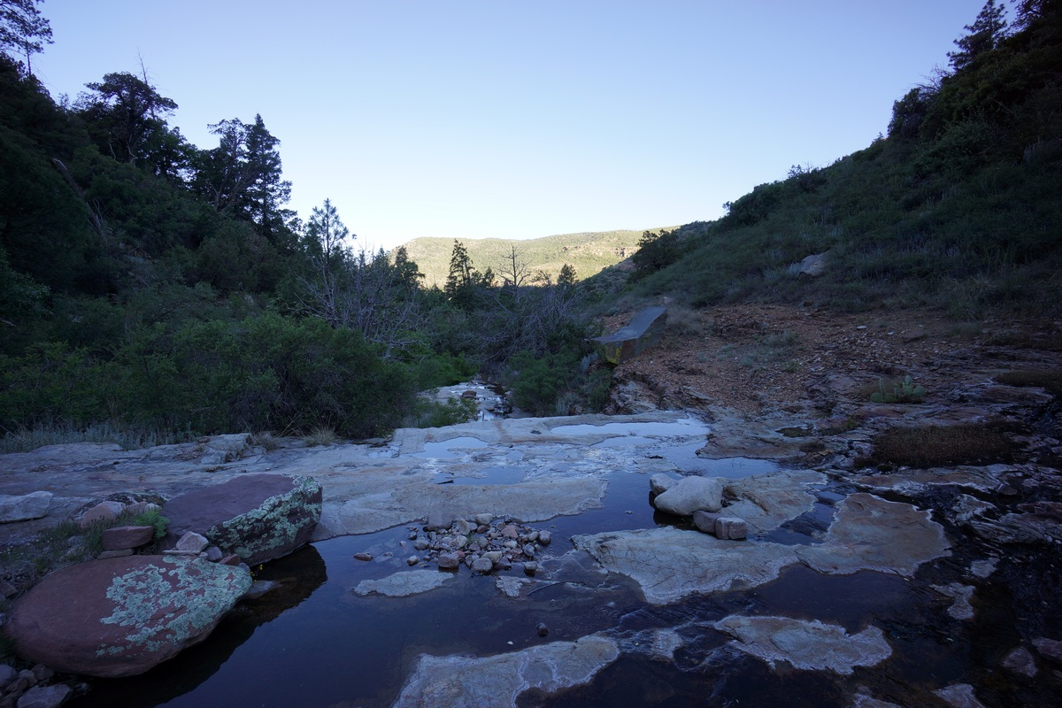 south fork parker creek water pools