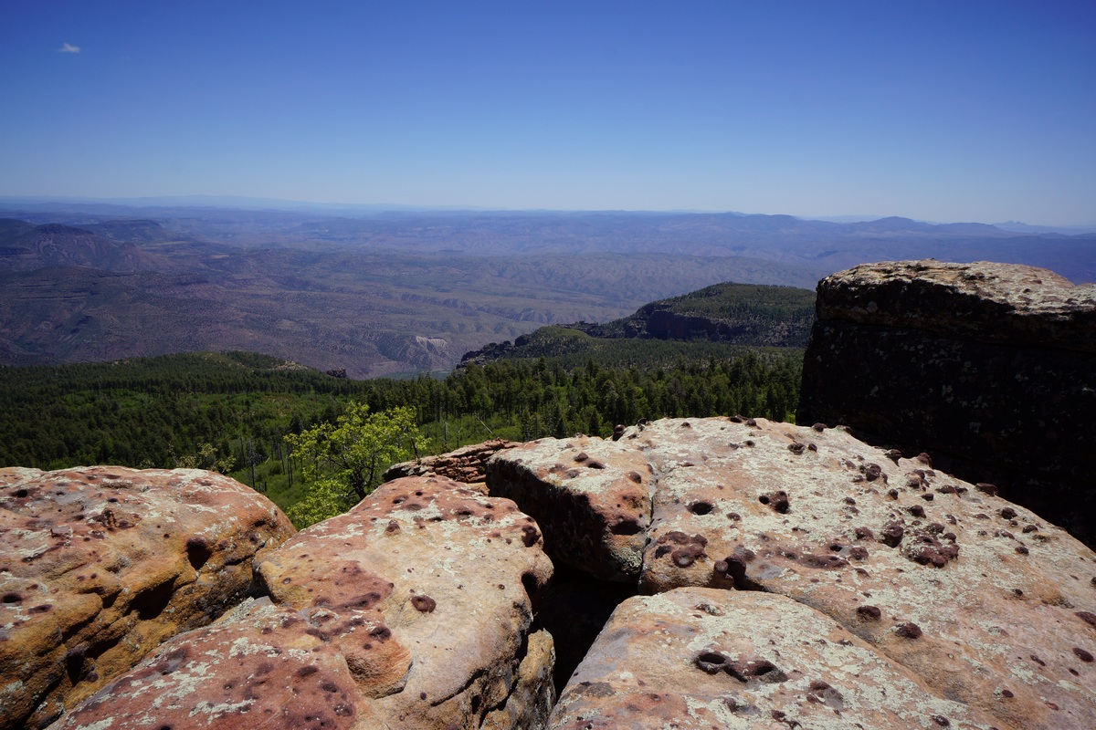 a view of the sierra ancha wilderness from point 7662