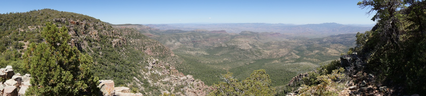 panoramic photo of the sierra ancha wilderness from zimmerman peak