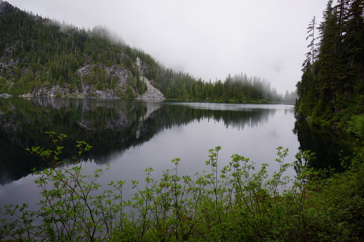 mist near copper lake