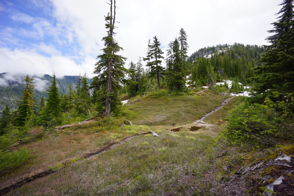 hiking trail near above big heart lake