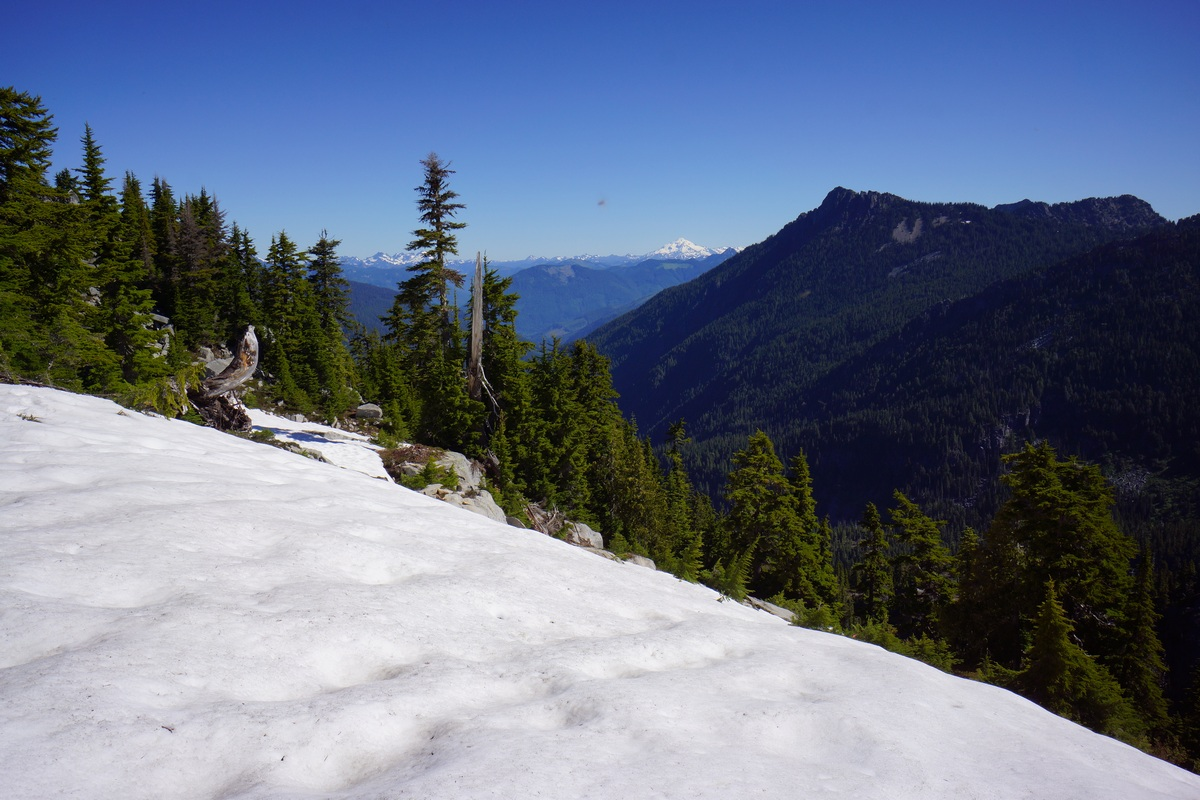 snow above 5000ft in late june - alpine lakes wilderness