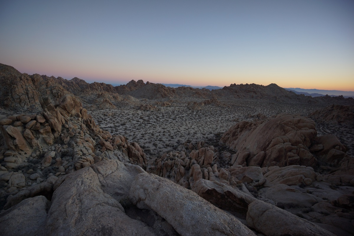 coxcomb mountains mountaintop view at sunrise