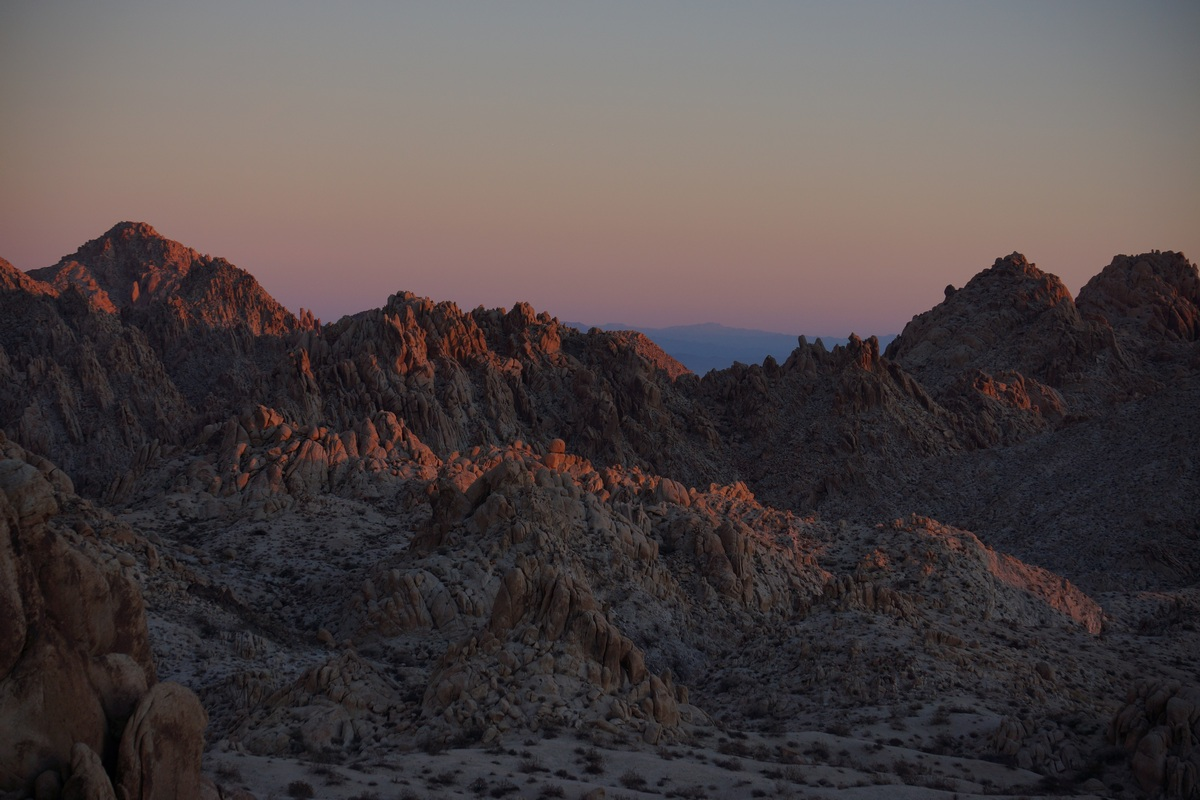 coxcomb mountains sunrise