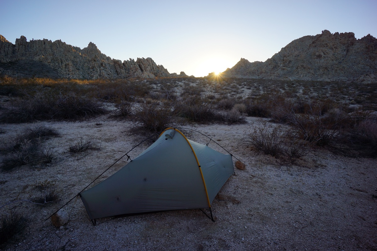 campsite in the coxcomb mountains