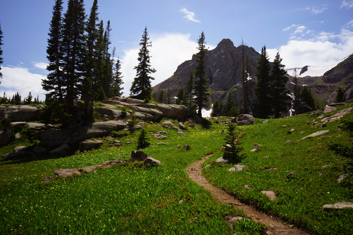 hiking trail near gore lakecolorado