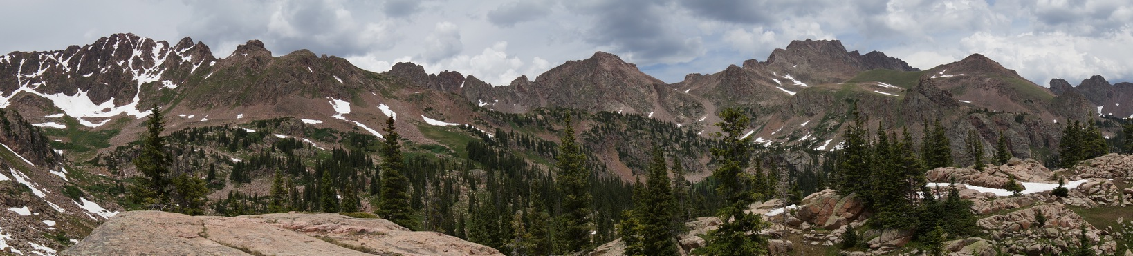 panoramic view of the gore mountains in eagles nest wilderness colorado