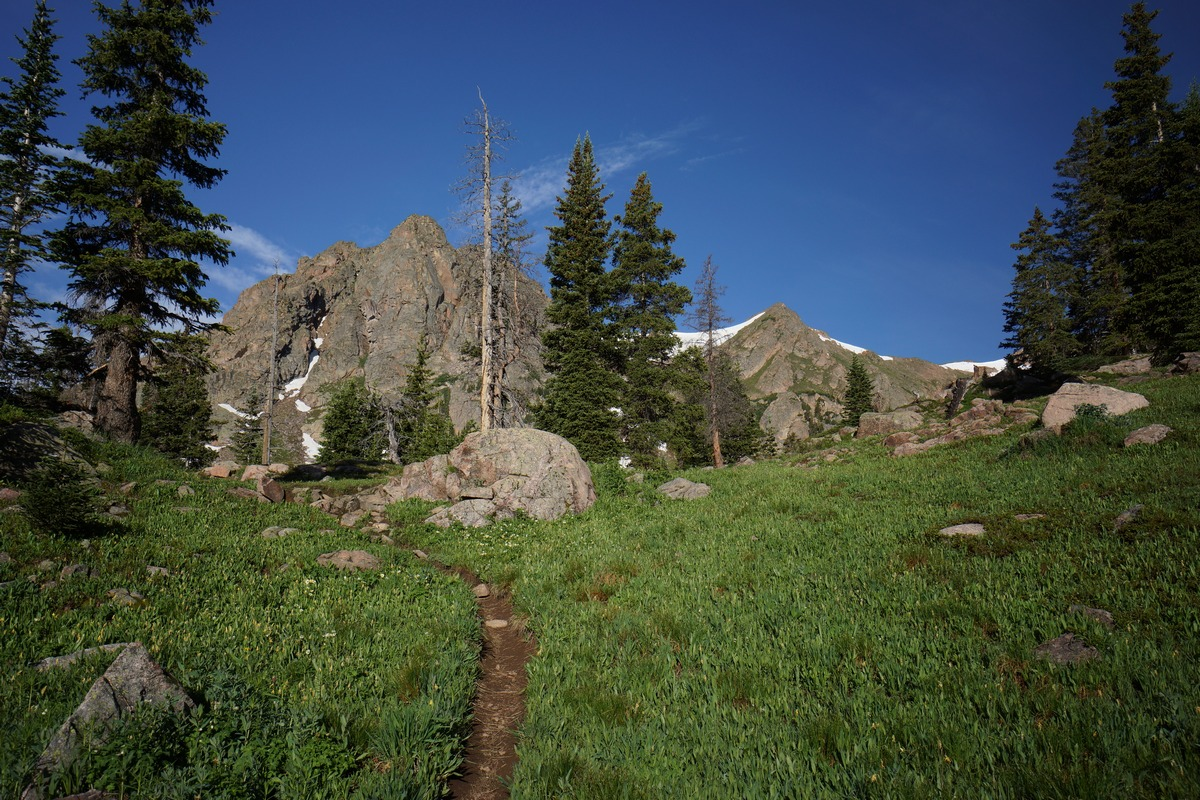 trail leading up to gore lake