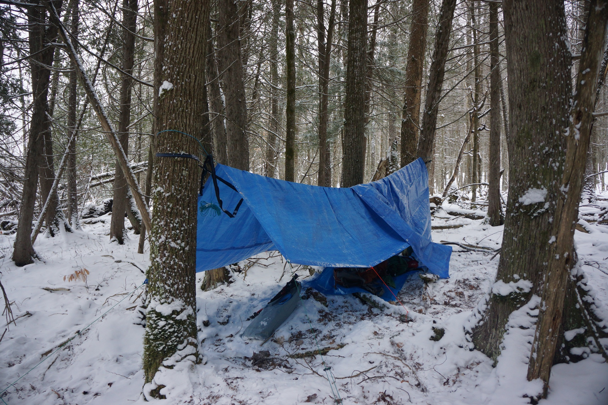 pigeon river winter camping 2