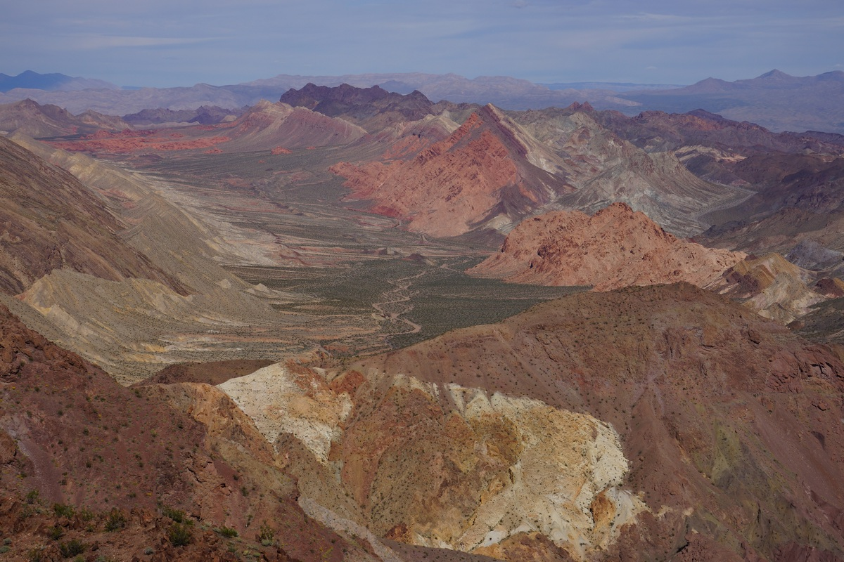 view of the pinto valley wilderness from hamblin mountain summit