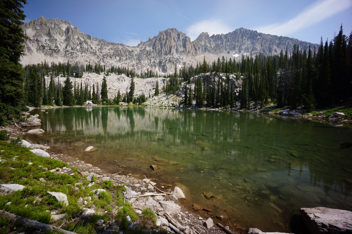 3rd lake above heart lake in the sawtooth wilderness