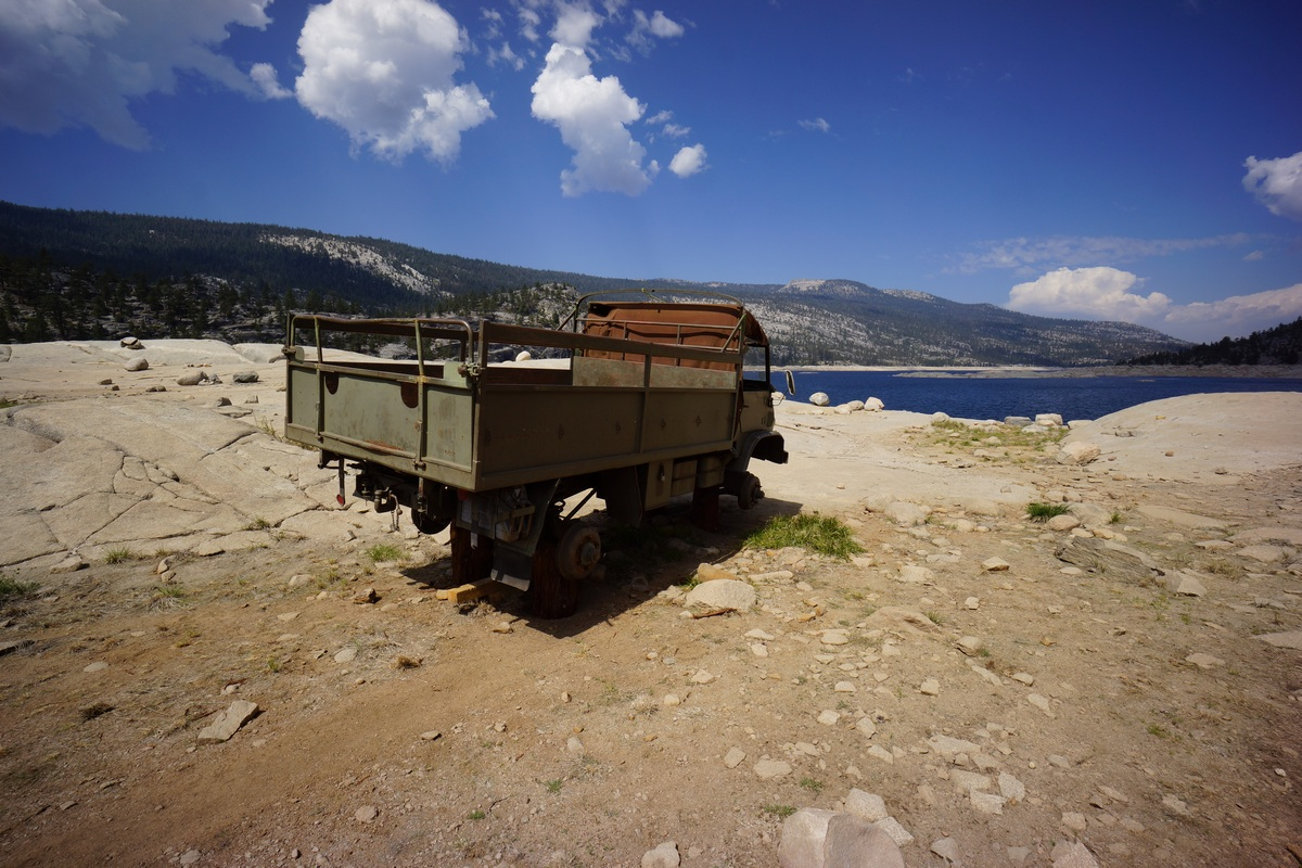 old truck on south shore of florence lake