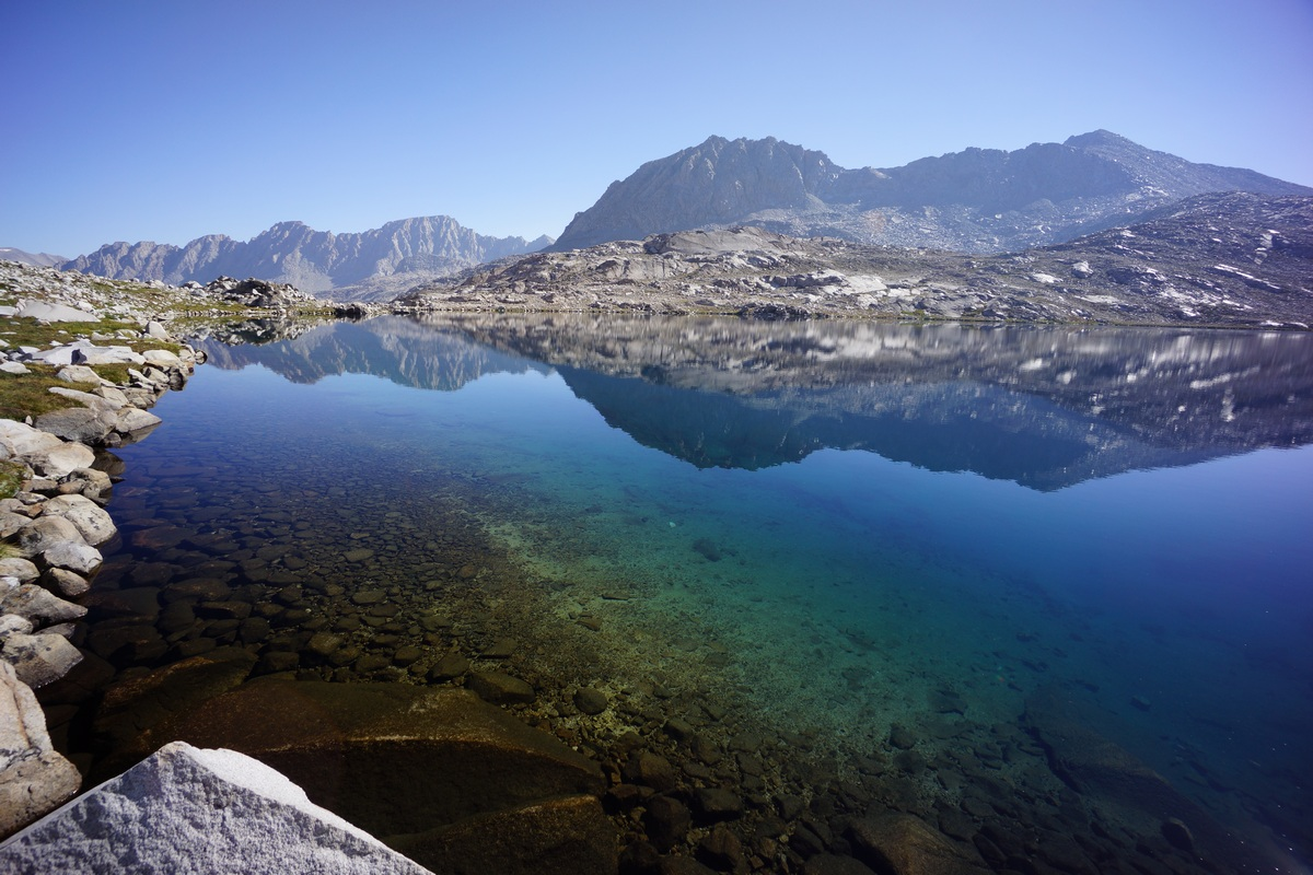 wanda lake along the john muir trail