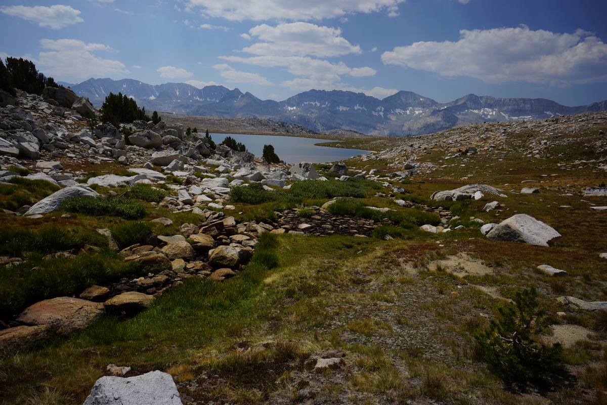 Looking back at Mesa Lake and the Glacier Divide