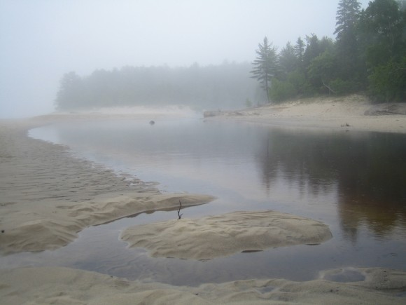 pictured rocks national lakeshore near mouth of miners river