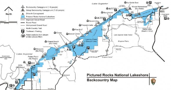 trail map for hikers and backpackers