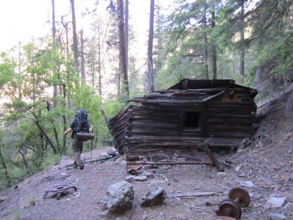 old cabin along the trail