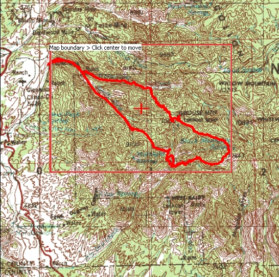 gila mogollon mountains long loop hike map topo