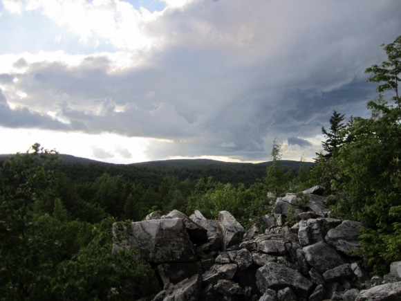 Clouds over the Dolly Sods Wilderness