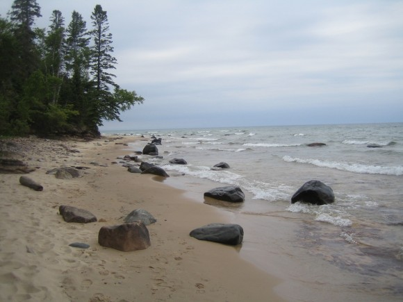 Lake Superior near Au Sable Point East campsite