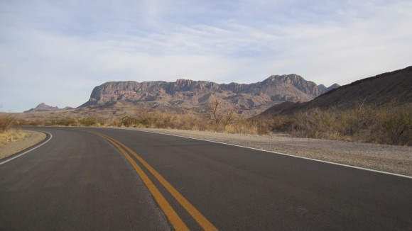 A very lonely stretch of road in Big Bend National Park, TX