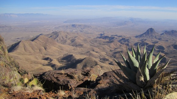 Chihuahuan Desert in big bend national park from the south rim