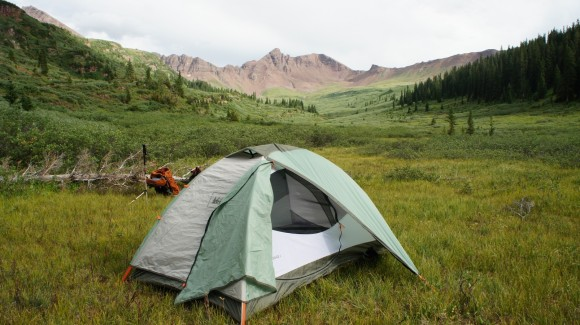 view of campsite in fravert basin
