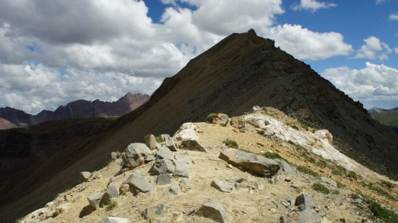 view of ridgeline on trail rider pass