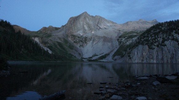 snowmass lake before sunrise