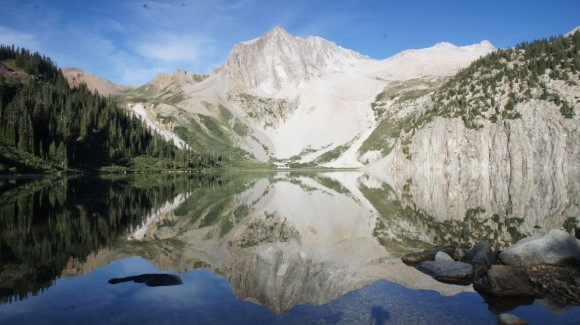early morning snowmass lake