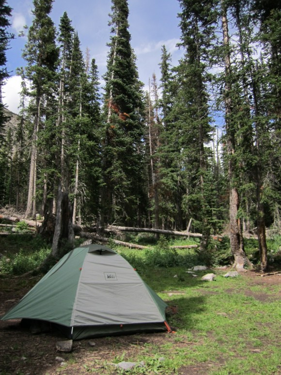 campsite at snowmass lake