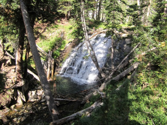 Waterfall By Snowmass Lake