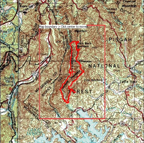 "Linville Gorge ""Is that all you got"" loop hike map"