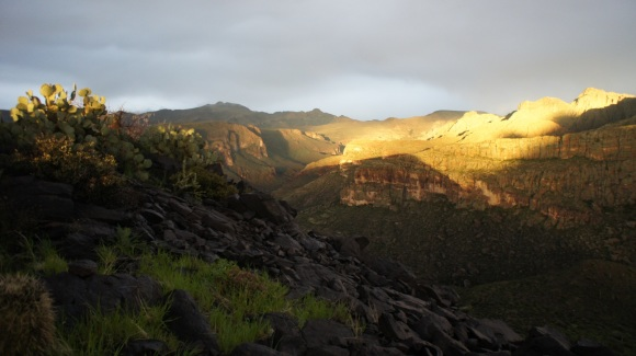 superstition wilderness break in the storm