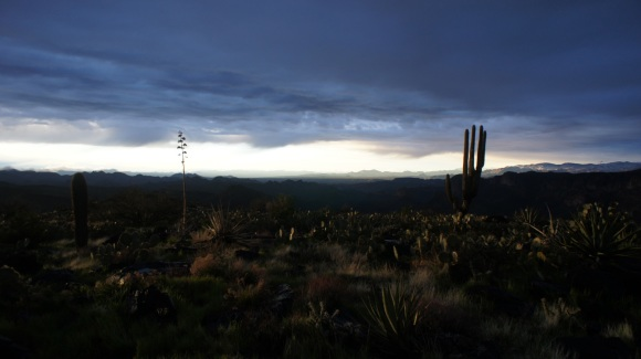 stormy sunsdown in the superstition wilderness