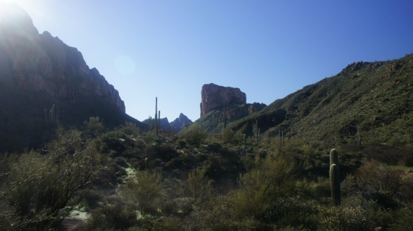 superstition wilderness battleship mountain from labarge creek