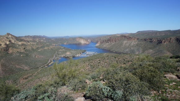 view of canyon lake from he trail
