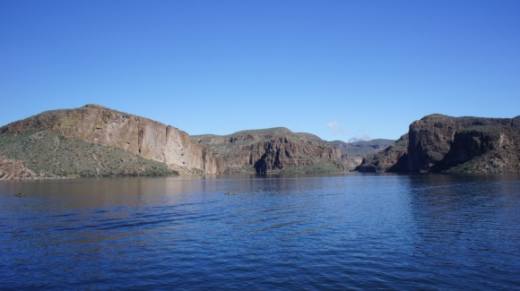 view of arizona's canyon lake from hywy 88