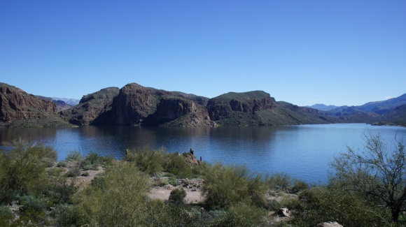 canyon lake in arizona's superstition wilderness