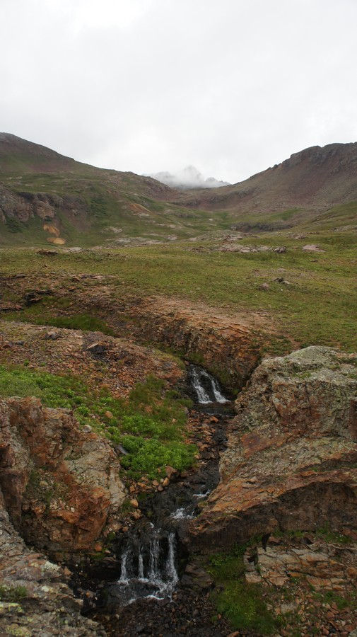 backpacking san juans near columbine lake waterfalls
