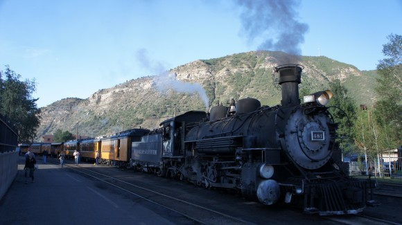 in durnago colorado at the durango silverton narrow gauge railraod train station