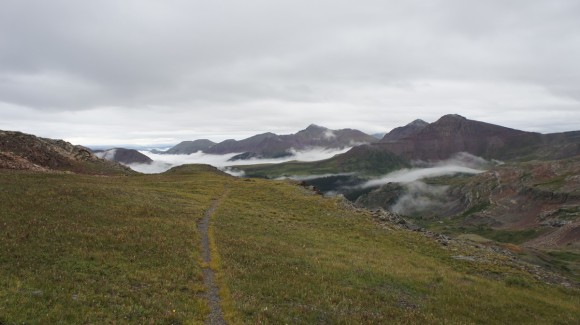 trail to kite lake from the cdt in the san juans