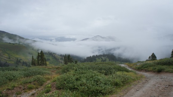 kite lake low clouds