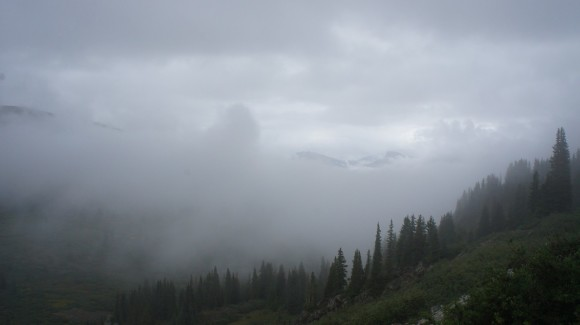 backpacking through the fog in the san juan mountains