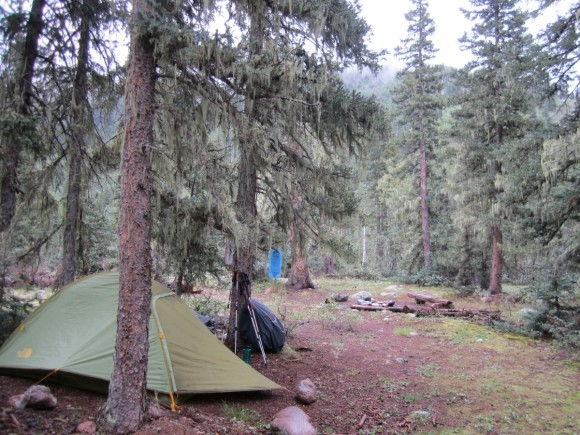 campsite near the vallecito bridge crossing