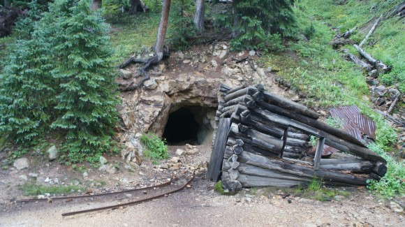 old mine in colorado's chicago basin