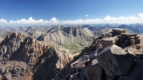 weminuche wilderness 14er windom peak summit view